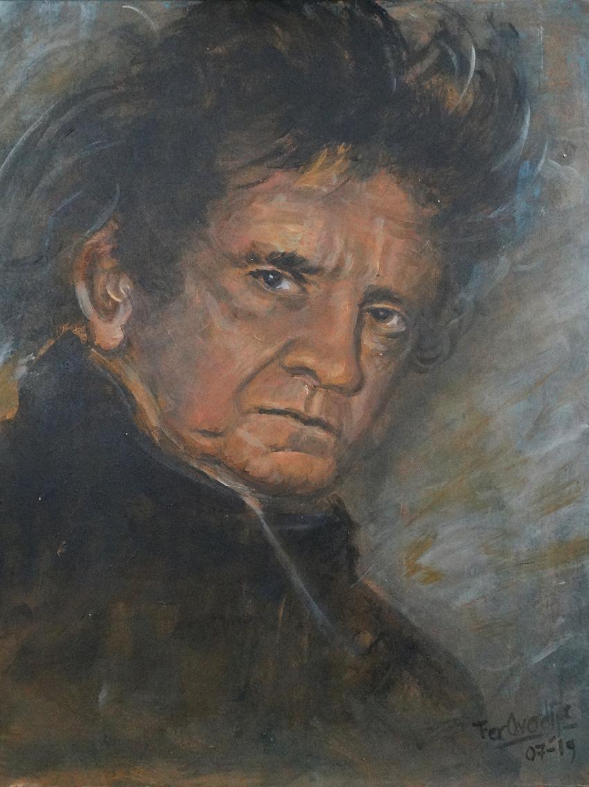 "Johny Cash - ""Photo print - 30 x 40 cm"""