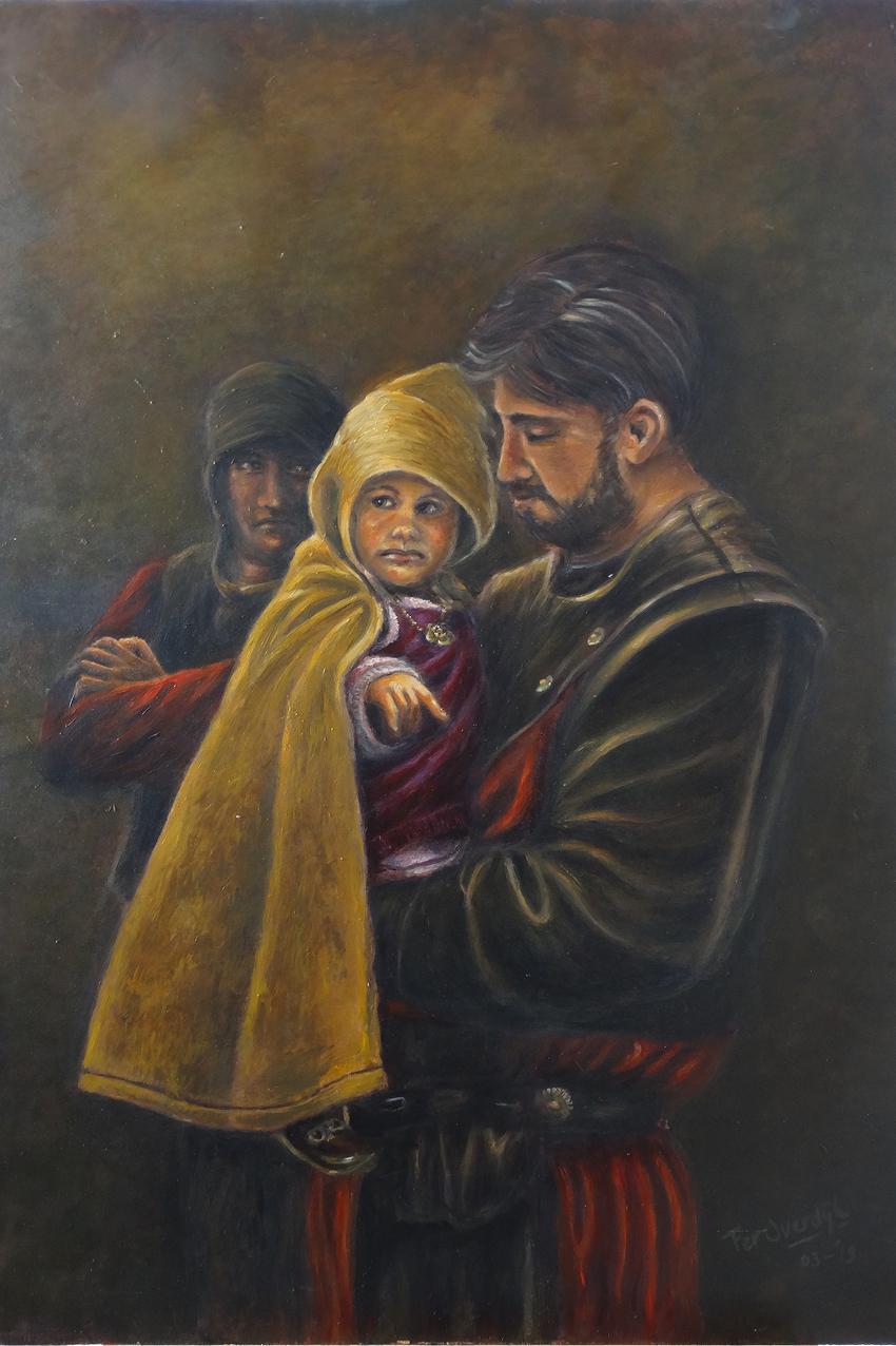 """Vader en zoon - """"Original painting"""""""