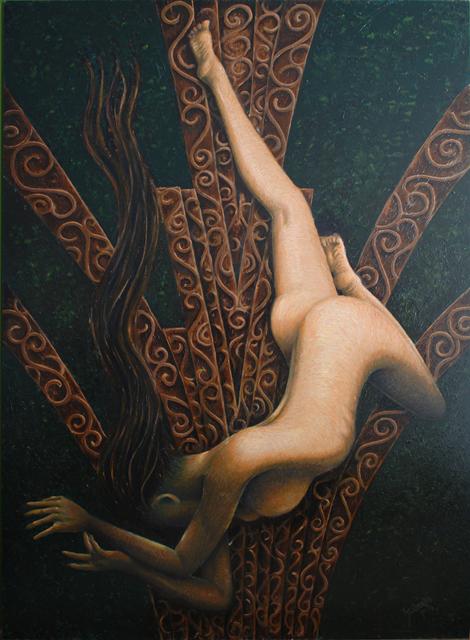 "Verzonken stad - ""Original painting"""