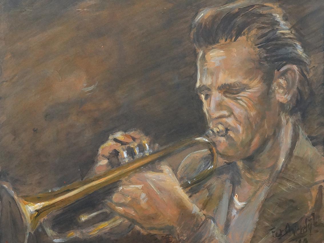 """Chet Baker -""""Original painting"""""""