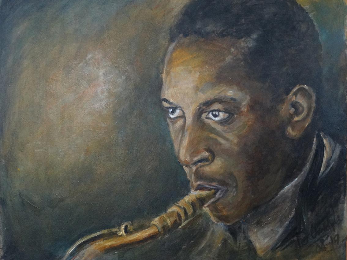 "John Coltrane - ""Original painting"""