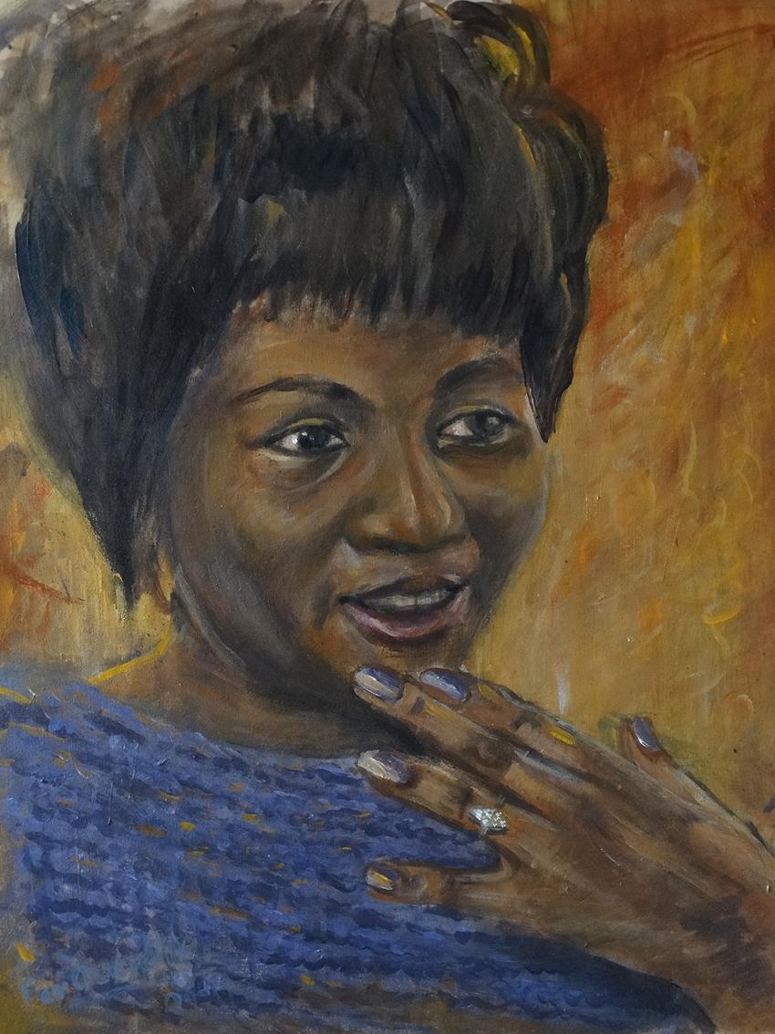 "Aritha Franklin - ""Original painting"""