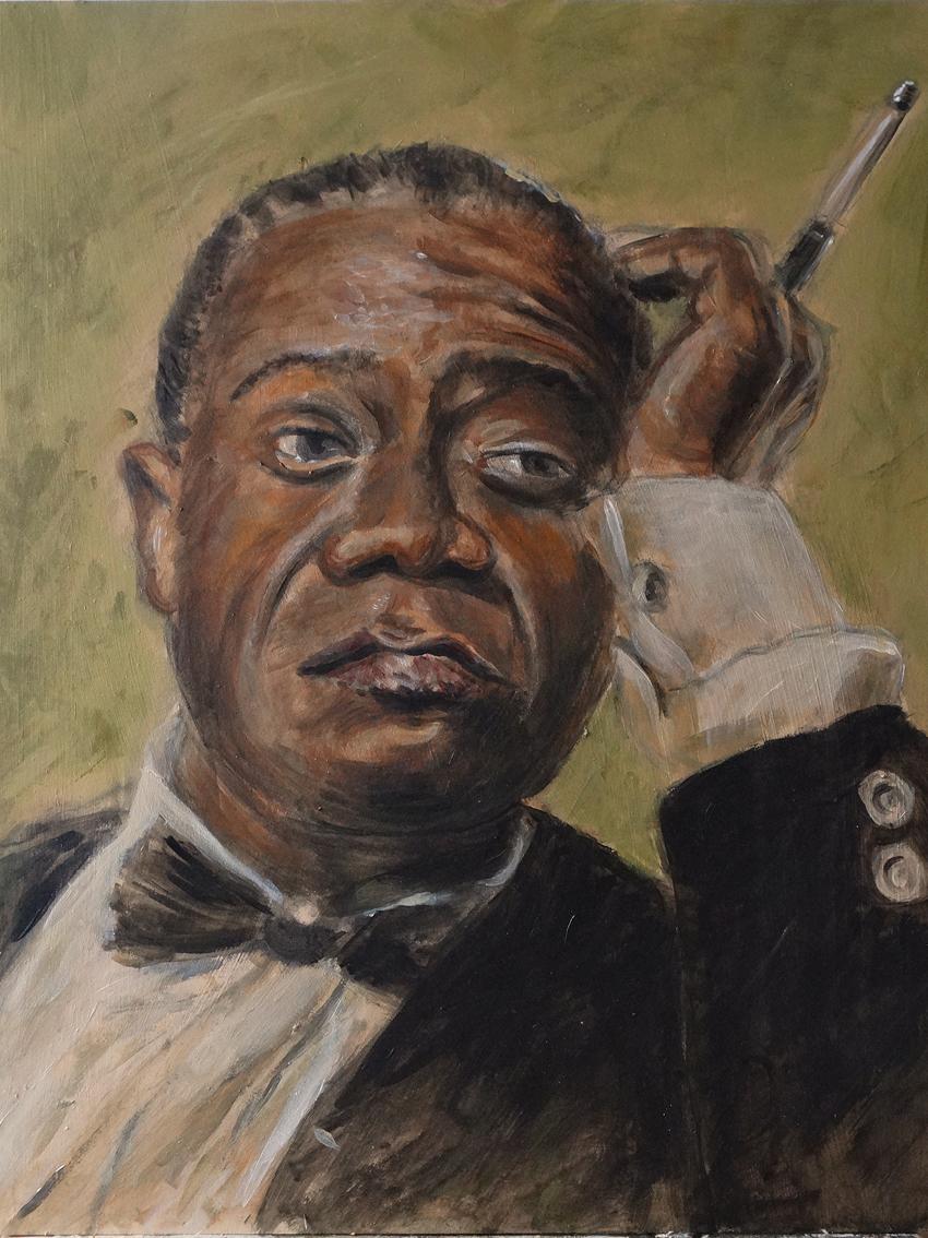 """Louis Armstrong - """"Original painting"""""""
